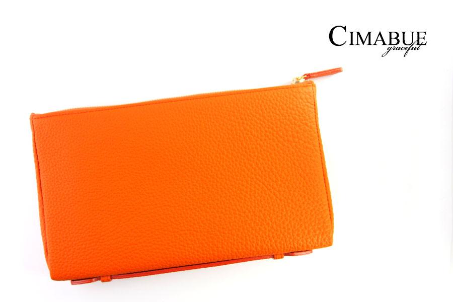 チマブエ グレースフル|CIMABUE graceful |シュランケンカーフ ミニクラッチバッグ|オレンジイメージ01