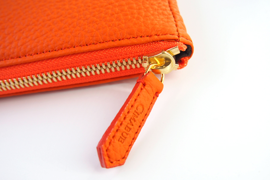チマブエ グレースフル|CIMABUE graceful |シュランケンカーフ ミニクラッチバッグ|オレンジイメージ06