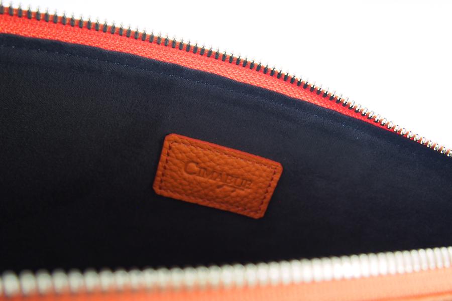 チマブエ グレースフル|CIMABUE graceful |シュランケンカーフ ミニクラッチバッグ|オレンジイメージ08