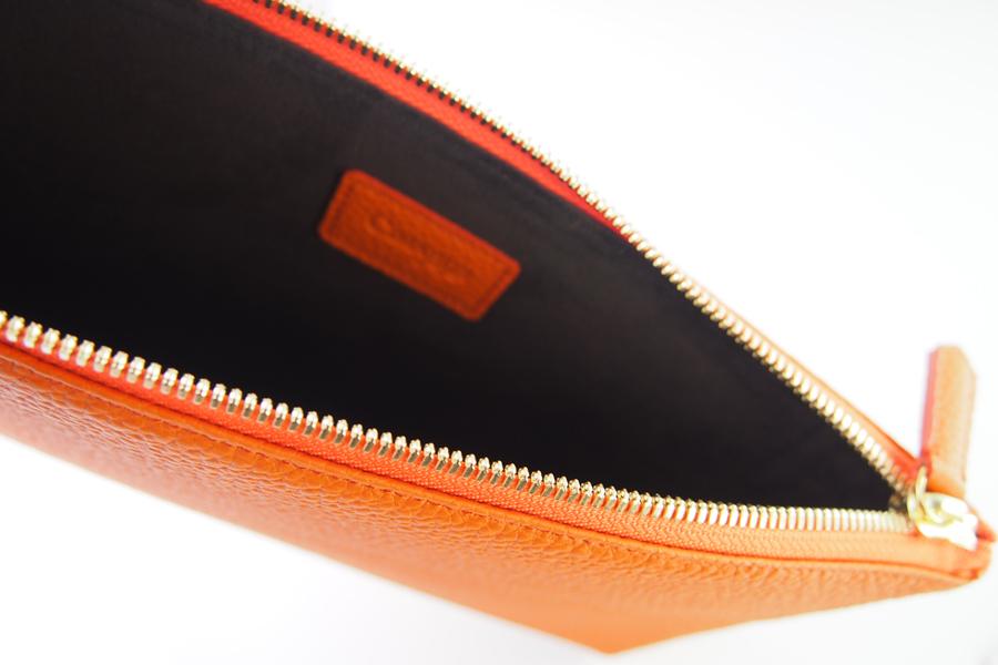 チマブエ グレースフル|CIMABUE graceful |シュランケンカーフ ミニクラッチバッグ|オレンジイメージ09
