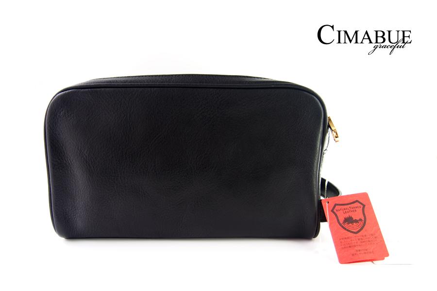 チマブエ グレースフル|CIMABUE graceful |セカンドバッグ|栃木レザー|ブラック イメージ01
