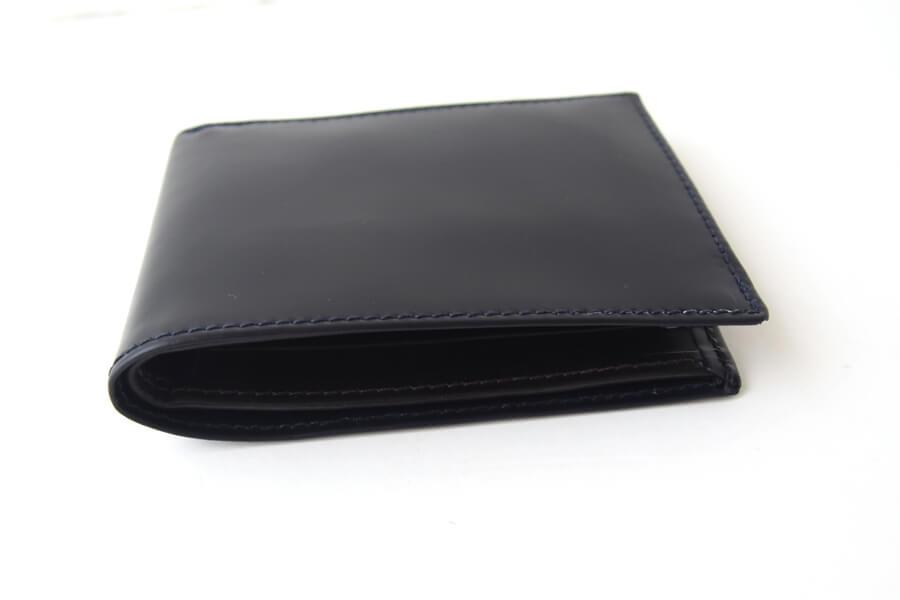 シンプソン ロンドン SIMPSON LONDON 小銭入れ付き2つ折り財布 コードバン ネイビーイメージ03