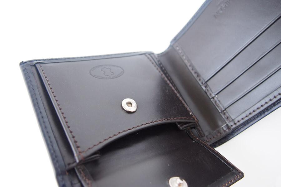 シンプソン ロンドン SIMPSON LONDON 小銭入れ付き2つ折り財布 コードバン ネイビーイメージ07