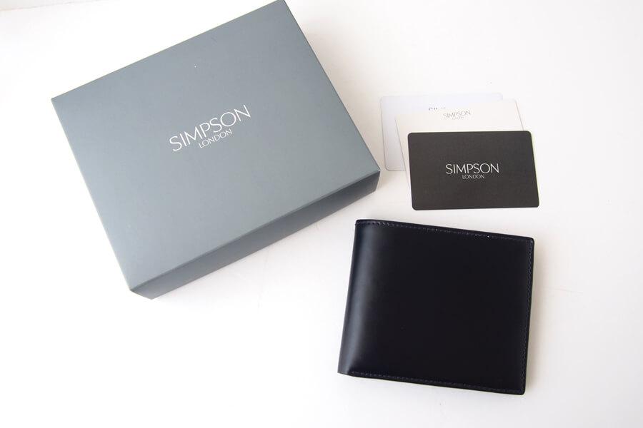 シンプソン ロンドン SIMPSON LONDON 小銭入れ付き2つ折り財布 コードバン ネイビーイメージ08