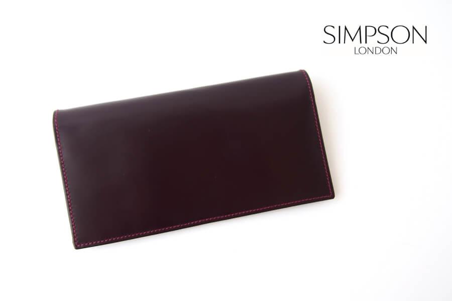 シンプソン ロンドン SIMPSON LONDON 小銭入れ付き長財布 コードバン OXブラッドボルドーイメージ01