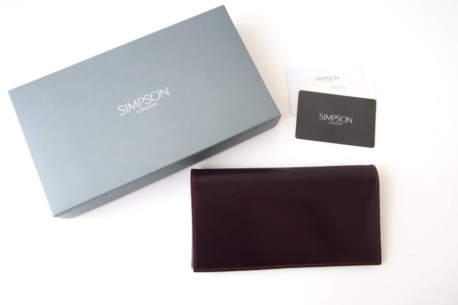 シンプソン ロンドン SIMPSON LONDON 小銭入れ付き長財布 コードバン OXブラッドボルドーイメージ010