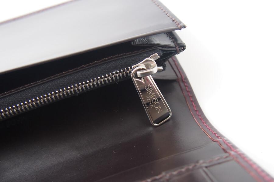 シンプソン ロンドン SIMPSON LONDON 小銭入れ付き長財布 コードバン OXブラッドボルドーイメージ07