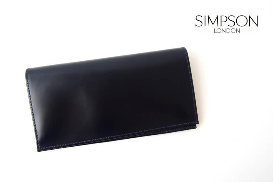 シンプソン ロンドン|SIMPSON LONDON|小銭入れ付き長財布|コードバン|ネイビーイメージ01