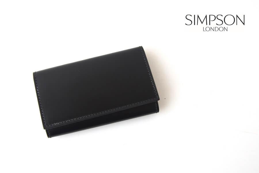 シンプソン ロンドン SIMPSON LONDON キーケース コードバン ブラックイメージ01