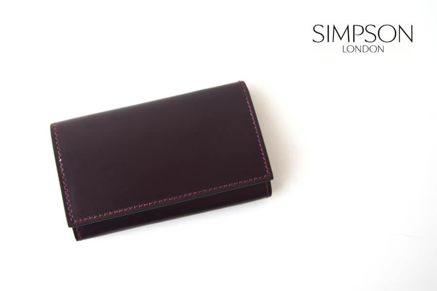 シンプソン ロンドン|SIMPSON LONDON|キーケース|コードバン|ボルドーイメージ01