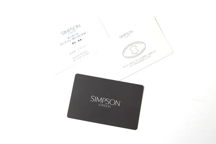 シンプソン ロンドン|SIMPSON LONDON|キーケース|コードバン|ブラックイメージ010