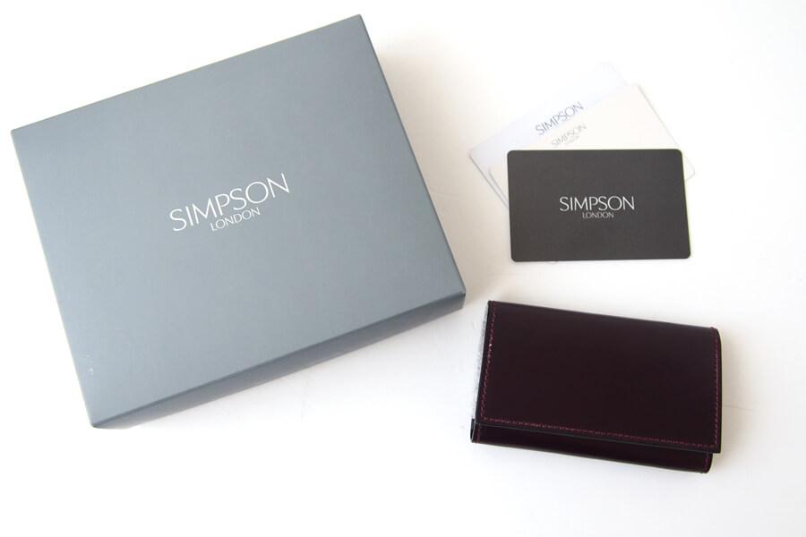 シンプソン ロンドン|SIMPSON LONDON|キーケース|コードバン|ボルドーイメージ09