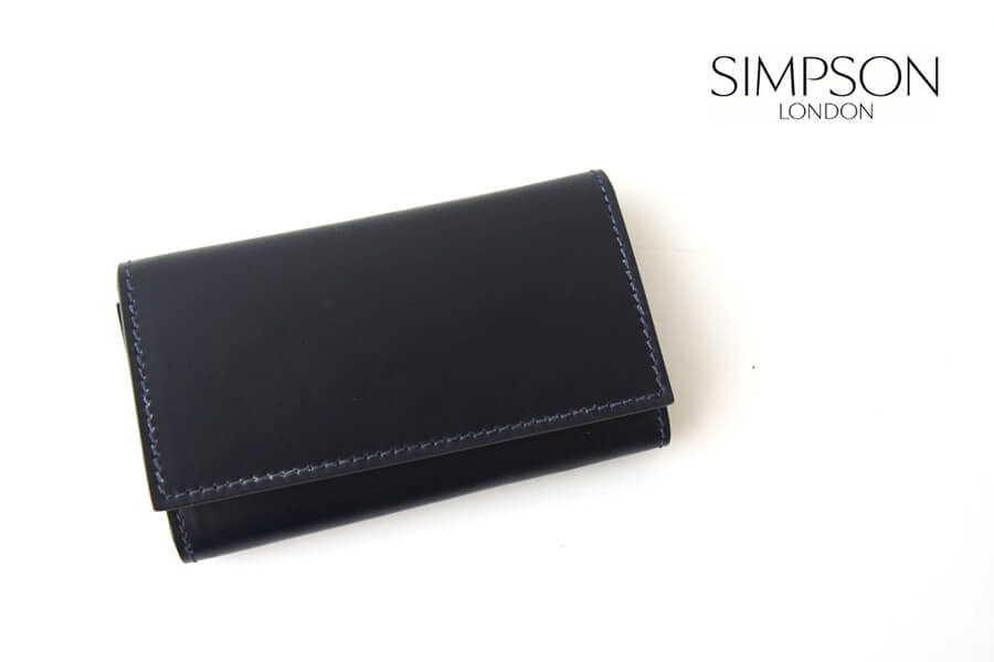 シンプソン ロンドン|SIMPSON LONDON|キーケース|コードバン|ネイビーイメージ01