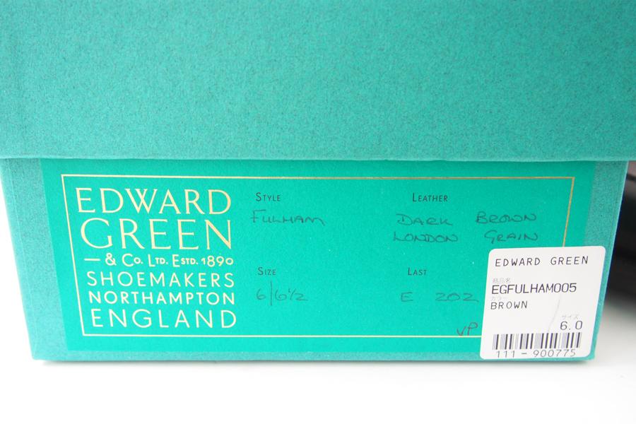 エドワードグリーン|Edward Green|ダブルモンクストラップシューズ|FULHAM|#202|6.0E|ブラウン|ロンドングレインイメージ010