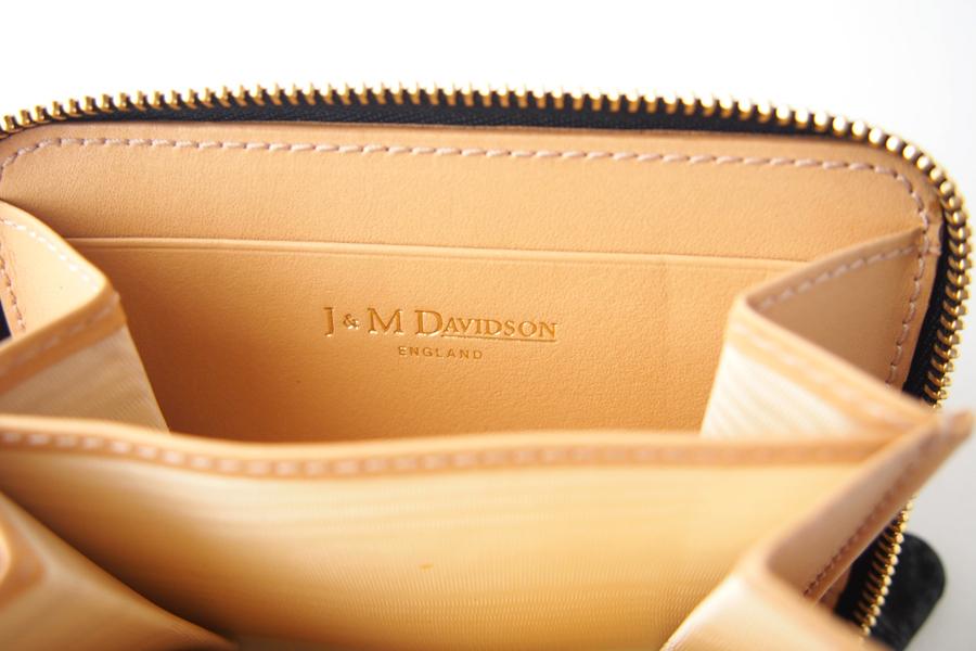 ジェイアンドエムデヴィッドソン|J&M Davidson|クロコ型押しラウンドファスナーカード&コインケース|ブラックイメージ09