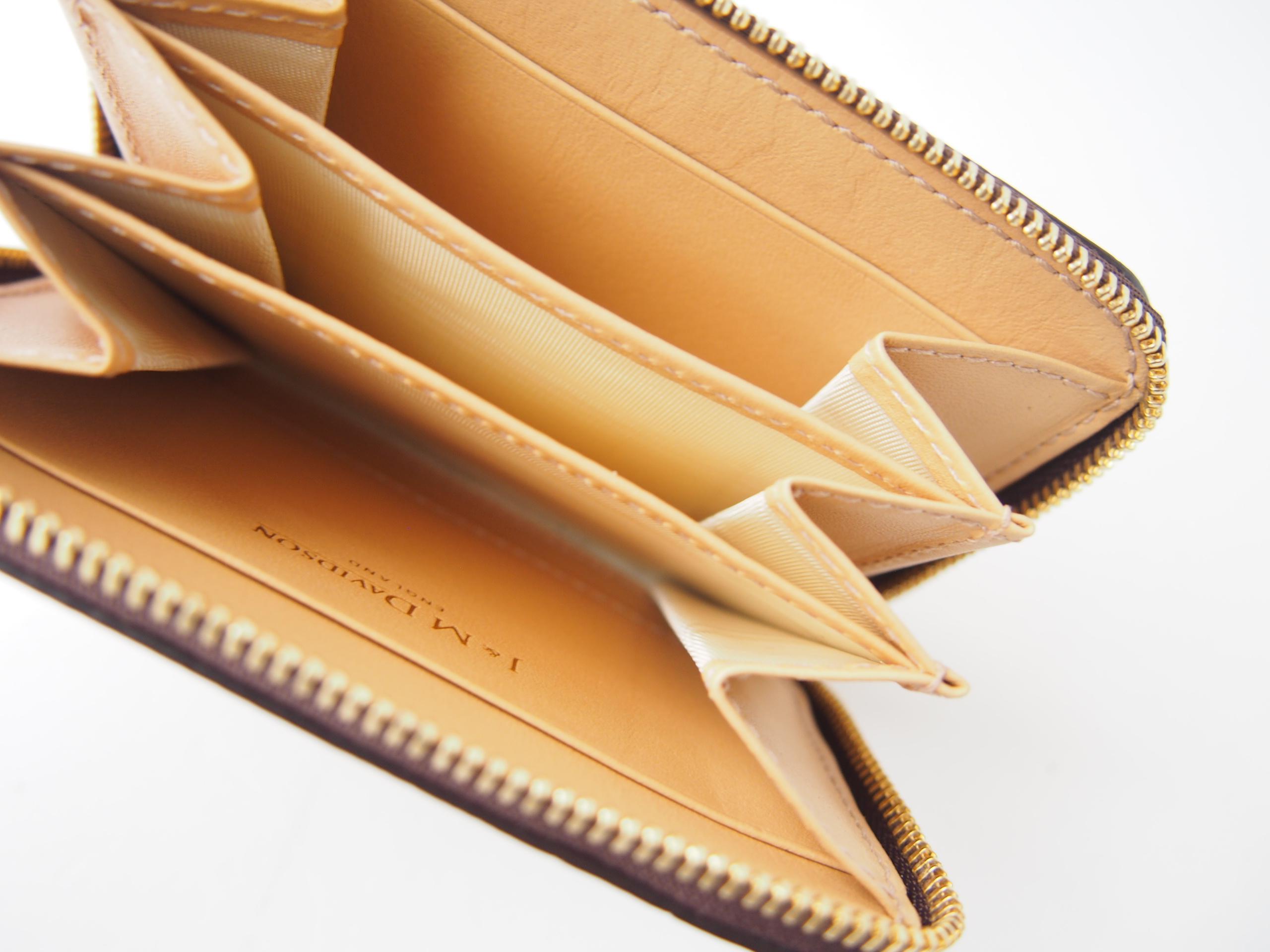 ジェイアンドエムデヴィッドソン|J&M Davidson|クロコ型押しラウンドファスナーカード&コインケース|ブラウンイメージ07