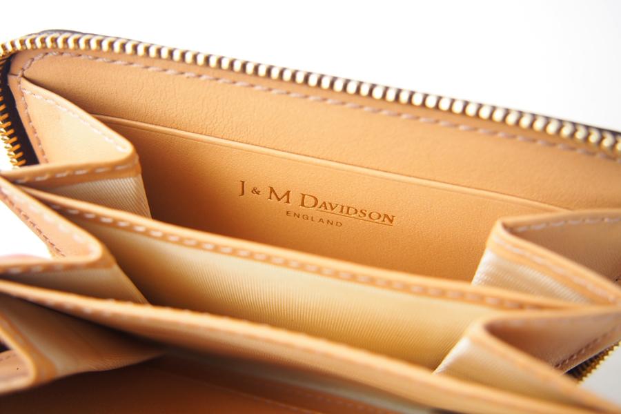 ジェイアンドエムデヴィッドソン|J&M Davidson|クロコ型押しラウンドファスナーカード&コインケース|ブラウンイメージ09