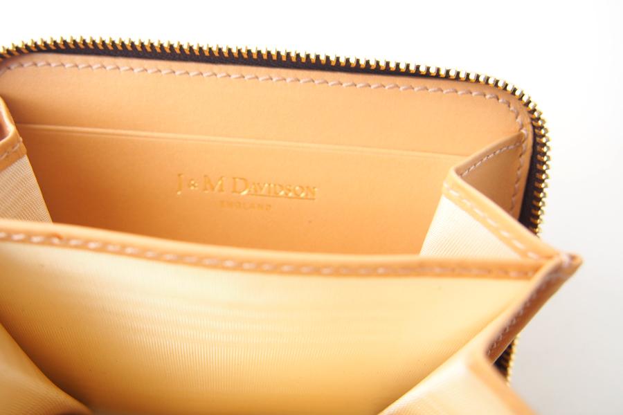 ジェイアンドエムデヴィッドソン|J&M Davidson|クロコ型押しラウンドファスナーカード&コインケース|ネイビーイメージ08