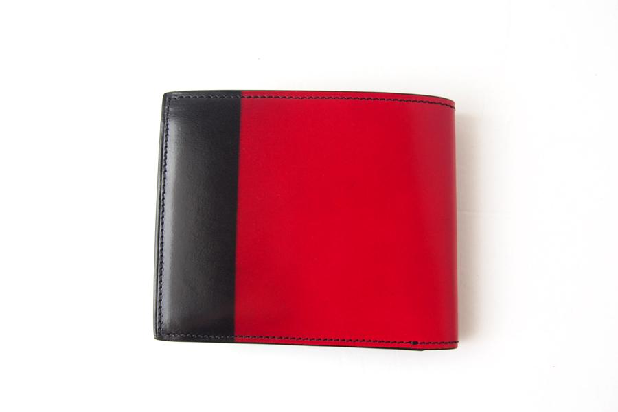 ユハク|YUHAKU|二つ折り財布|手染め|Luce e Ombra|レッドイメージ02