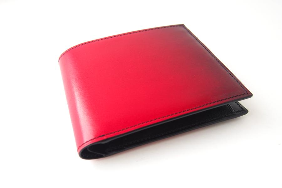 ユハク|YUHAKU|二つ折り財布|手染め|Luce e Ombra|レッドイメージ03