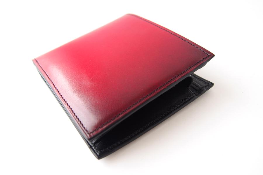 ユハク|YUHAKU|二つ折り財布|手染め|Luce e Ombra|レッドイメージ04