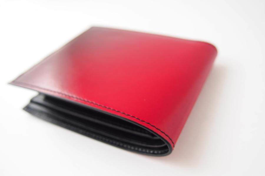 ユハク|YUHAKU|二つ折り財布|手染め|Luce e Ombra|レッドイメージ06
