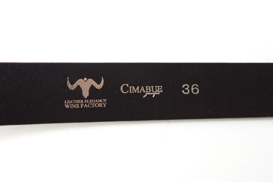 チマブエ グレースフル|CIMABUE graceful |WINS FACTORYコラボ|イングランド産ブライドルレザーベルト|チョコレートブラウン|36イメージ05