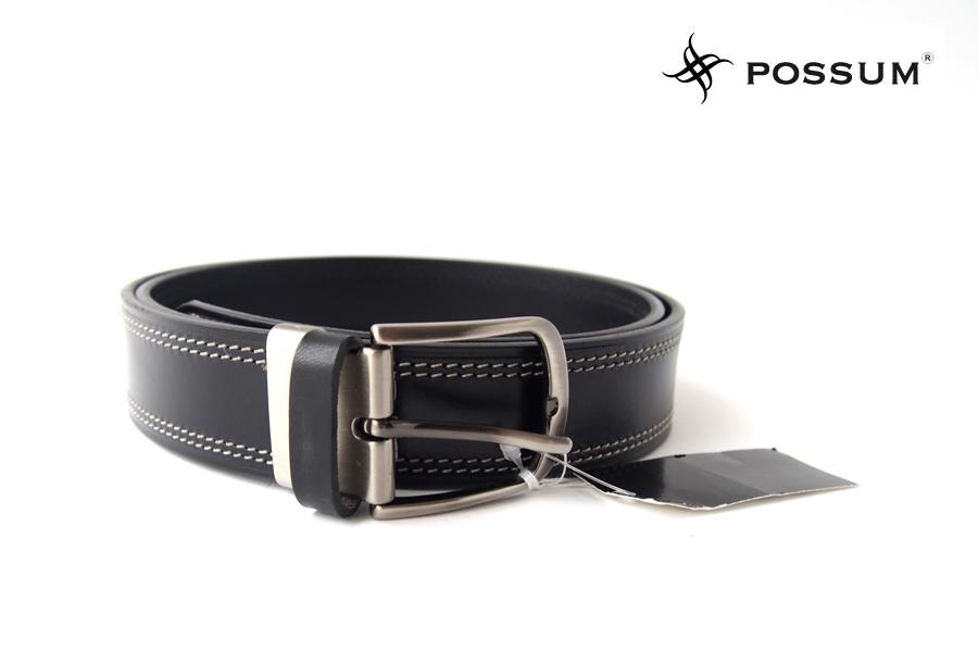 ポッシュム POSSUM ダブルステッチカジュアルベルト 95/36 ブラックイメージ01