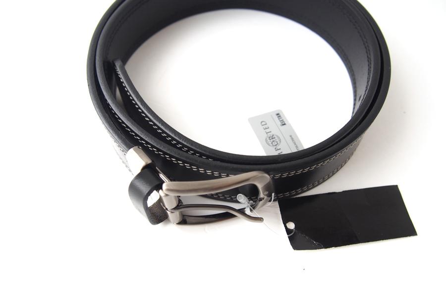 ポッシュム POSSUM ダブルステッチカジュアルベルト 95/36 ブラックイメージ02