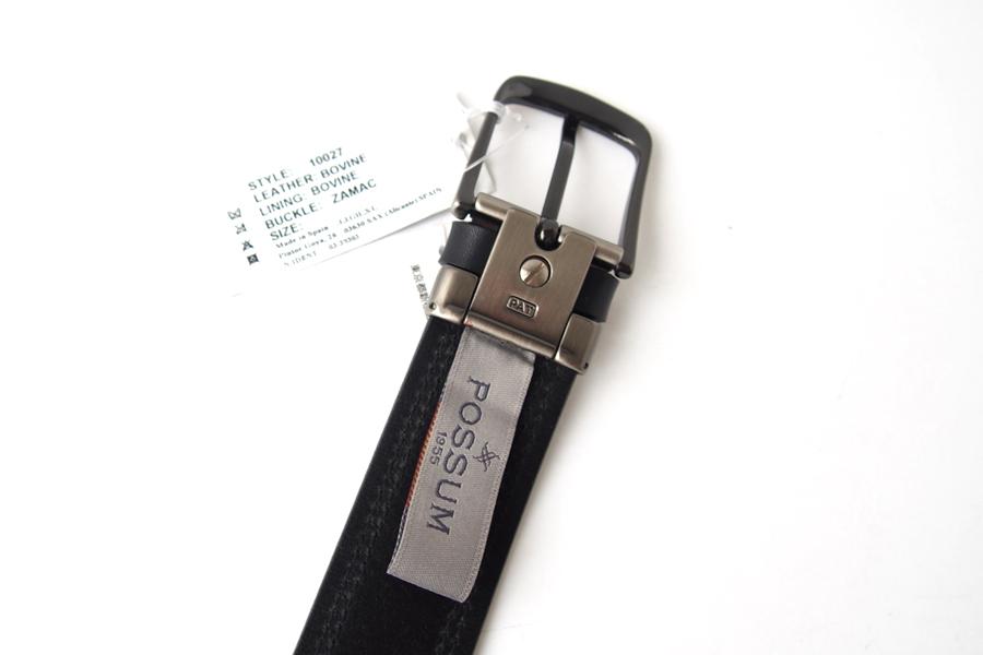 ポッシュム POSSUM ダブルステッチカジュアルベルト 95/36 ブラックイメージ04