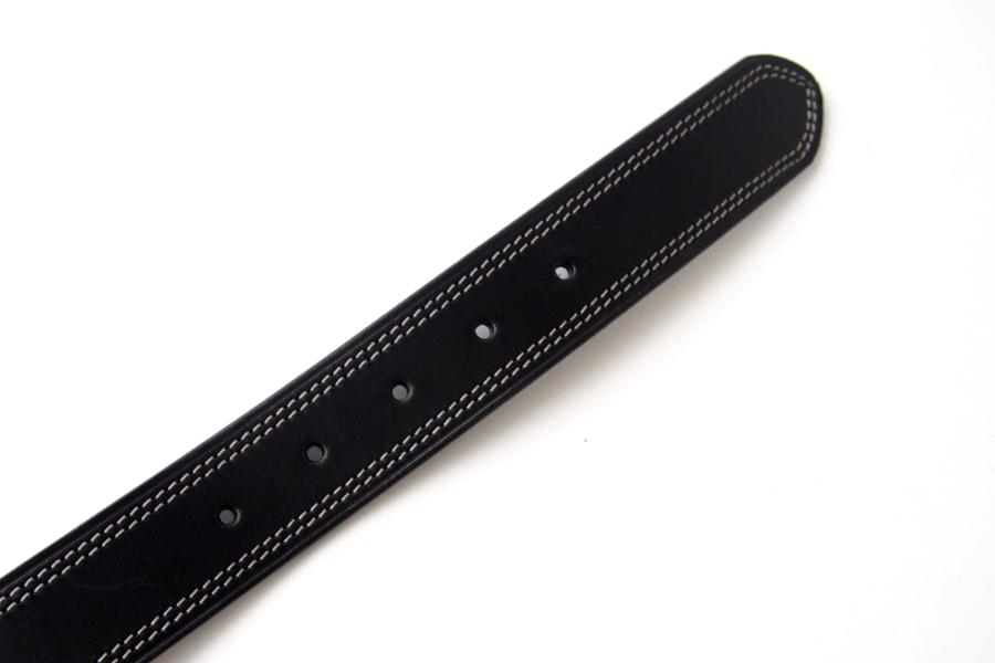 ポッシュム POSSUM ダブルステッチカジュアルベルト 95/36 ブラックイメージ06