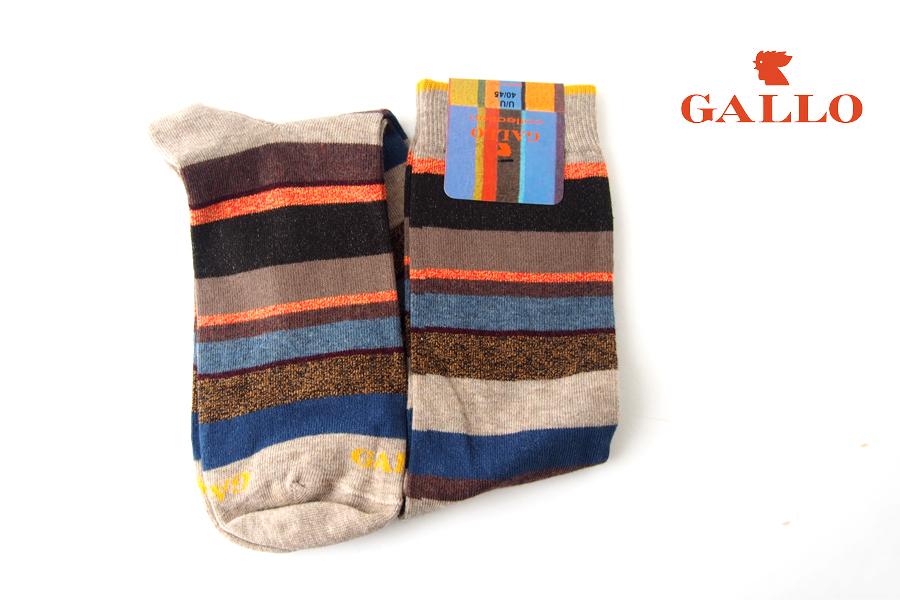 ガッロ|GALLO|ロングホーズソックス|コットン×ナイロン|マルチカラー|GAM793413イメージ01