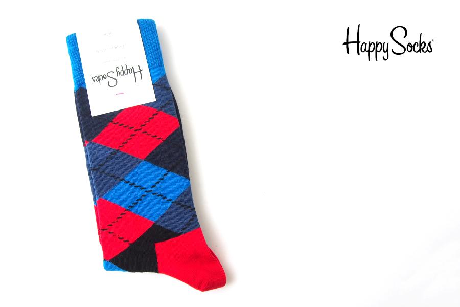 ハッピーソックス happy socks クルー丈カジュアルソックス アーガイル柄ソックスイメージ01