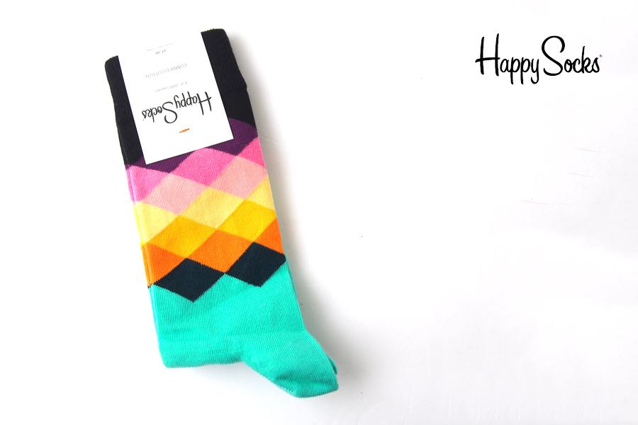 ハッピーソックス|happy socks|クルー丈カジュアルソックス|フェイディドダイヤモンド|Faded Diamond|グリーンイメージ01