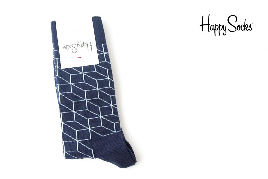 ハッピーソックス|happy socks|クルー丈カジュアルソックス|オプティックソックス|FILLED OPTIC SOCK|ネイビーイメージ01