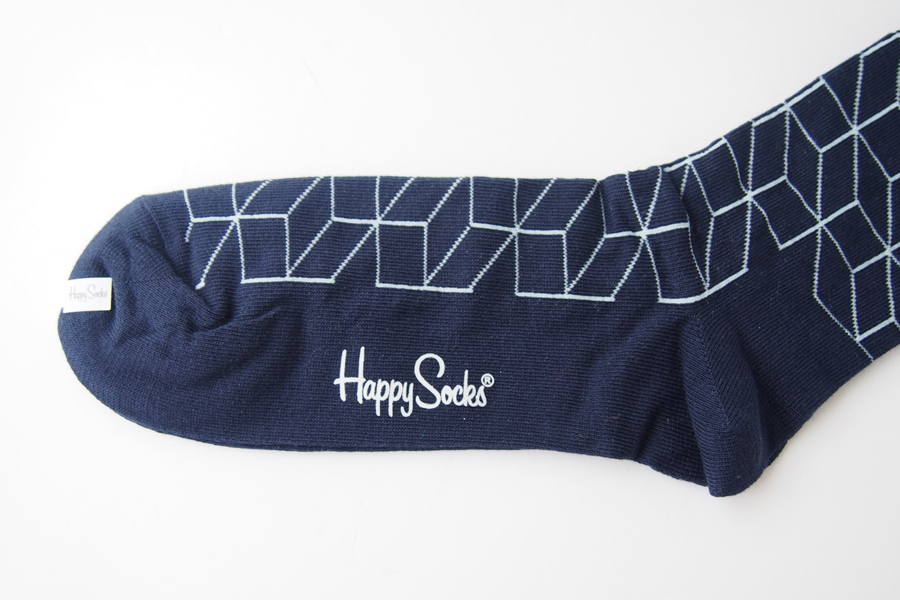 ハッピーソックス|happy socks|クルー丈カジュアルソックス|オプティックソックス|FILLED OPTIC SOCK|ネイビーイメージ03