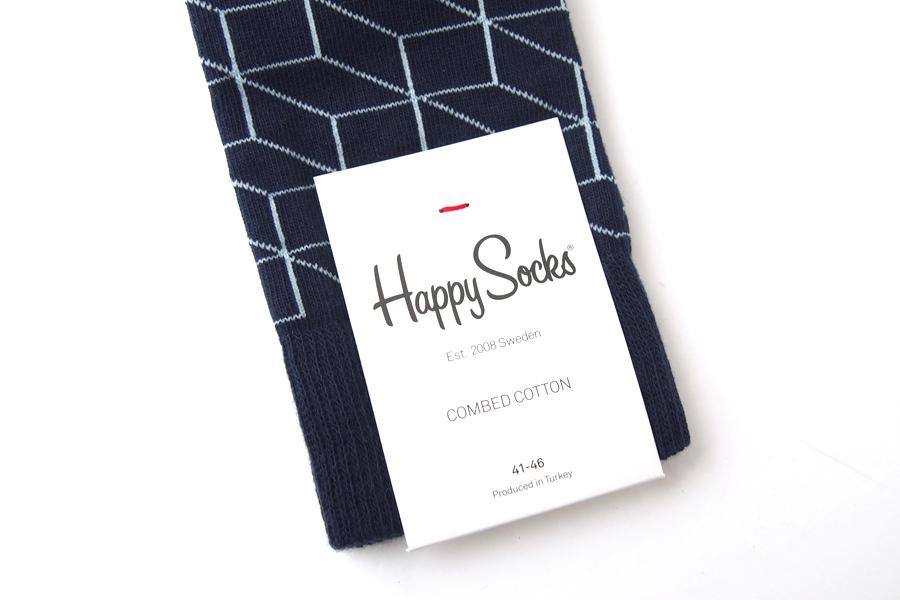 ハッピーソックス|happy socks|クルー丈カジュアルソックス|オプティックソックス|FILLED OPTIC SOCK|ネイビーイメージ04