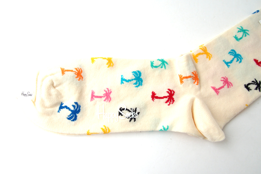 ハッピーソックス|happy socks|クルー丈カジュアルソックス|パーム ビーチ| PLAM BEACH|ホワイトイメージ03