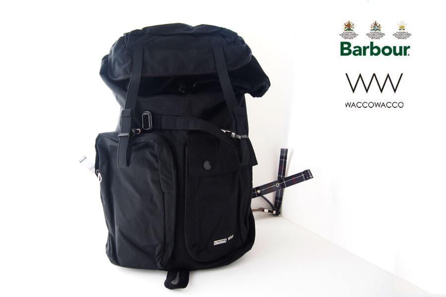 バブア―|Barbour|<WACCOWACCO|ワッコワッコ>コラボバッグパック|ブラックイメージ01