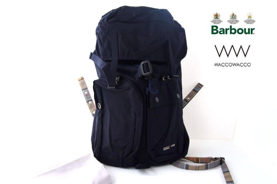 バブア― Barbour <WACCOWACCO ワッコワッコ>コラボバッグパック ネイビーイメージ01