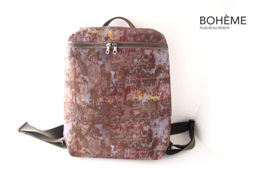 ボエム|BOHÈME|プリントナイロンバックパック|BM-001|ART of VISUALイメージ01