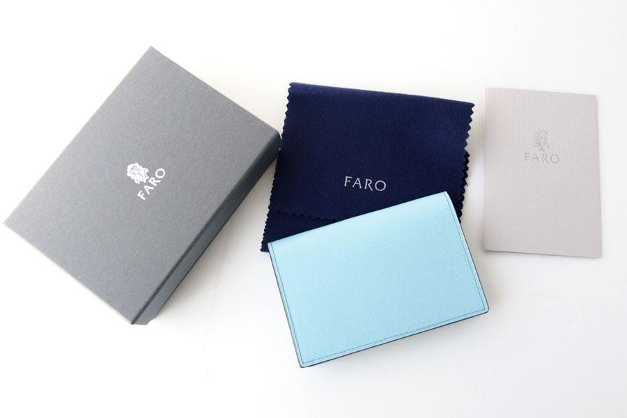 ファーロ FARO カードケース 名刺入れ CAVIRO FIN-CALF SEASON COLOR サックスブルーイメージ010