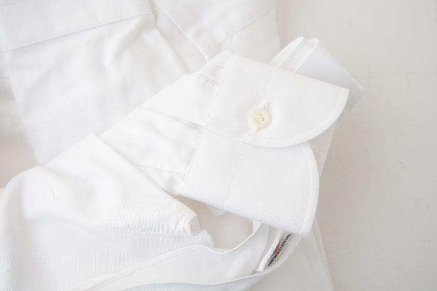 ルイジボレッリ|LUIGI BORRELLI|無地セミワイドカラーシャツ|LUCIANO|SN06|38|ホワイトイメージ04