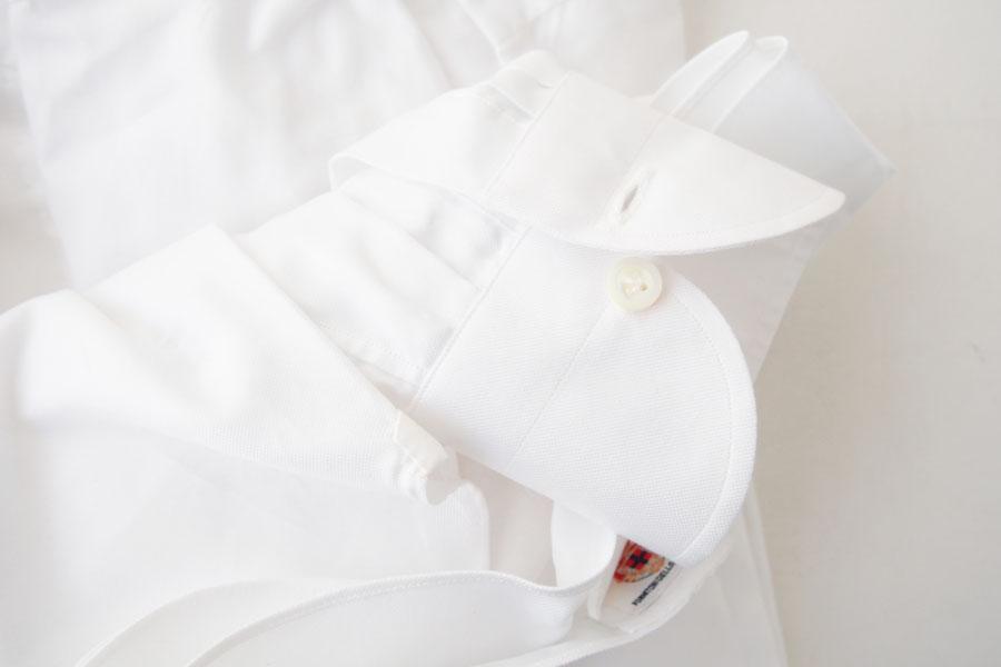 ルイジボレッリ|LUIGI BORRELLI|無地セミワイドカラーシャツ|LUCIANO|SN06|38|ホワイトイメージ05