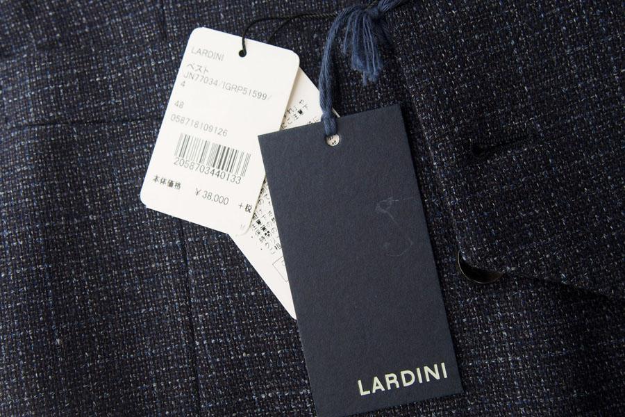 ラルディーニ|LARDINI|ウールフランネルダブルベスト|ジレ|48|ネイビーイメージ05