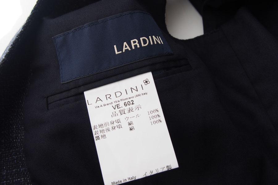 ラルディーニ|LARDINI|ウールフランネルダブルベスト|ジレ|48|ネイビーイメージ06