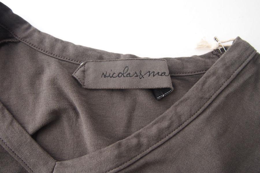 ニコラス&マーク|Nicolas & Mark|Vネック半袖Tシャツ|M|カーキブラウンイメージ06
