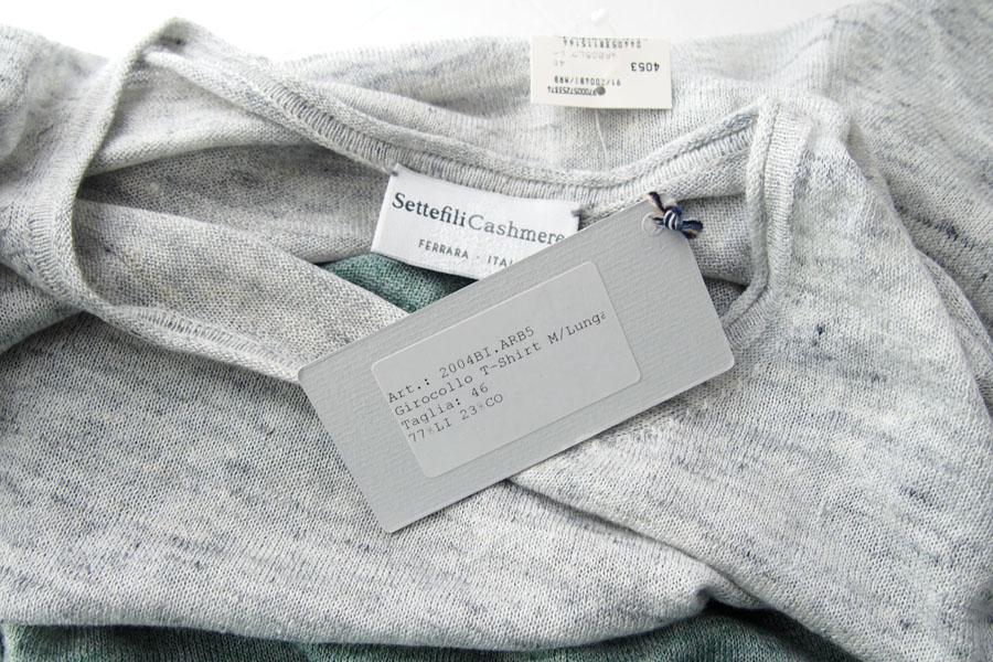 セッテフィーリ カシミヤ|Settefili Cashmere|ロングスリーブクルーネックバイカラーセーター|2004BI/ARB|46イメージ06