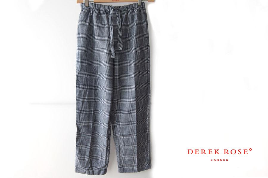 デレクローズ|DEREK ROSE|グレンチェック柄トラウザー|ルームウェア|Mイメージ01