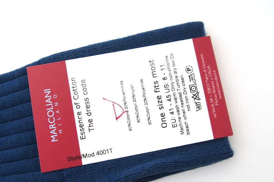 マリコリアーニ marcoliani クルー丈リブソックス Essence of Cotton The dress code ブルーイメージ04